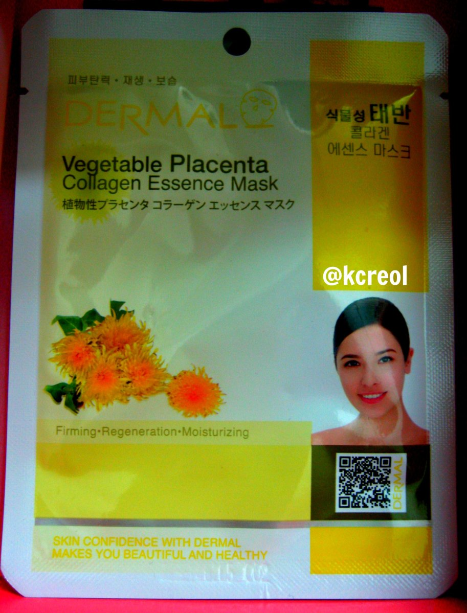 REVIEW: Dermal's Vegetable Placenta Collagen Mask